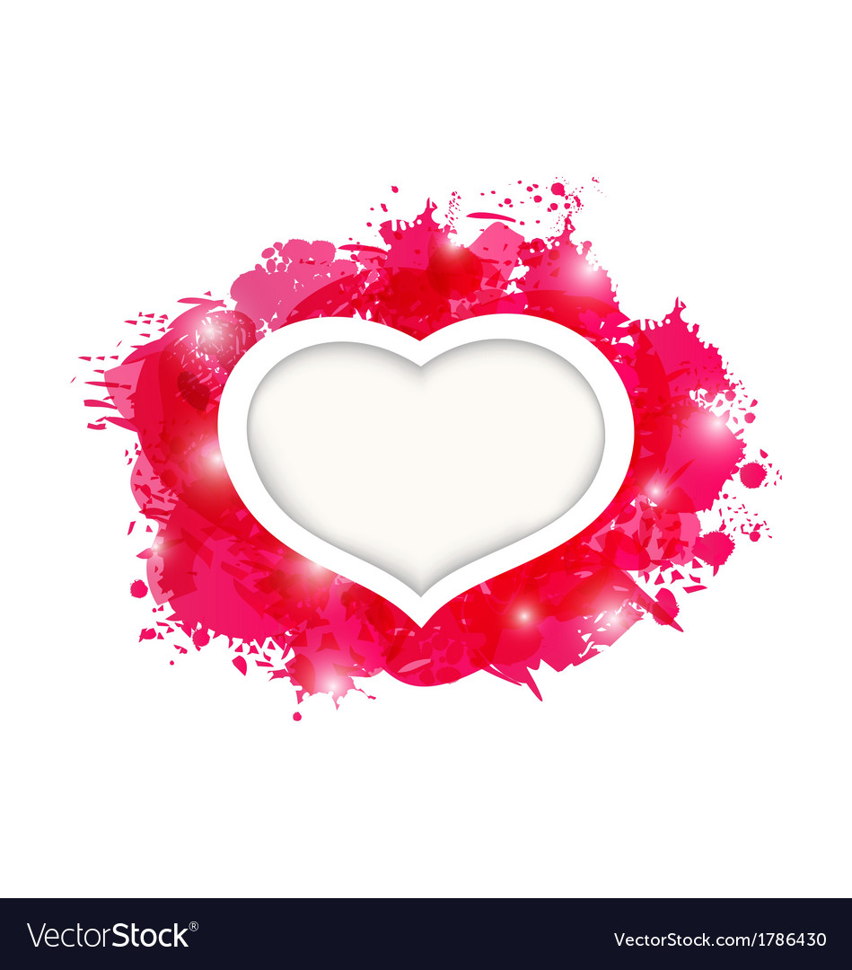 Beautiful heart for card valentines day vector | Price: 1 Credit (USD $1)