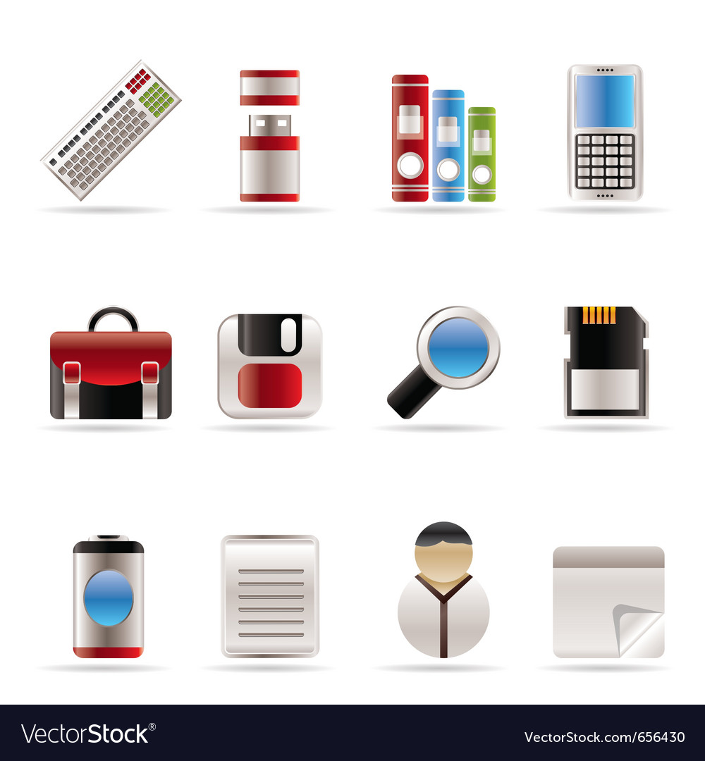 Business and office tools icons vector | Price: 1 Credit (USD $1)