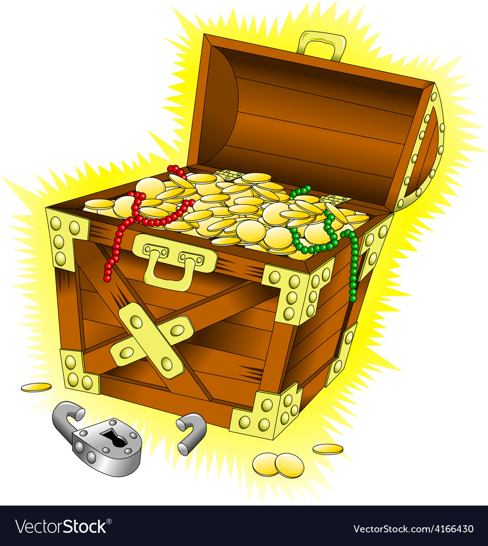 Cartoon treasure chest vector | Price: 1 Credit (USD $1)