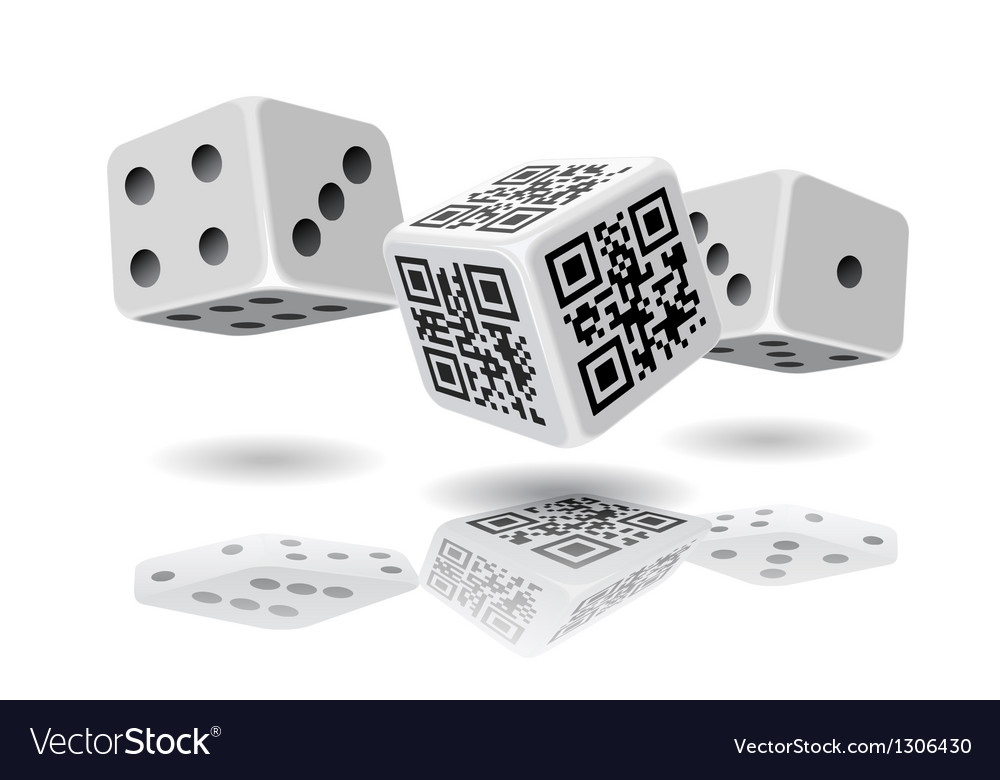Casino cubes and qr code cube vector | Price: 1 Credit (USD $1)