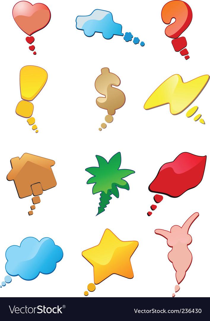 Conceptual bubbley conversation vector | Price: 1 Credit (USD $1)