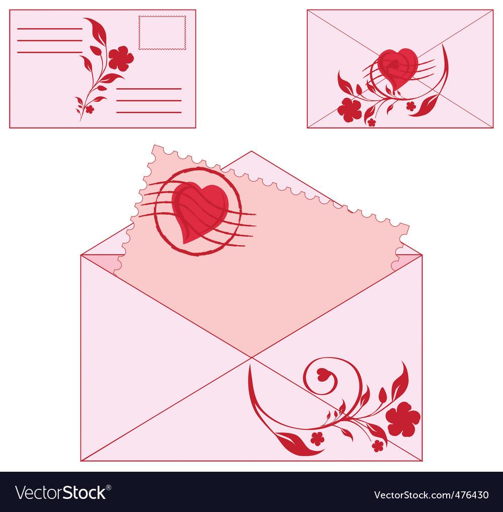 Floral envelopes vector | Price: 1 Credit (USD $1)