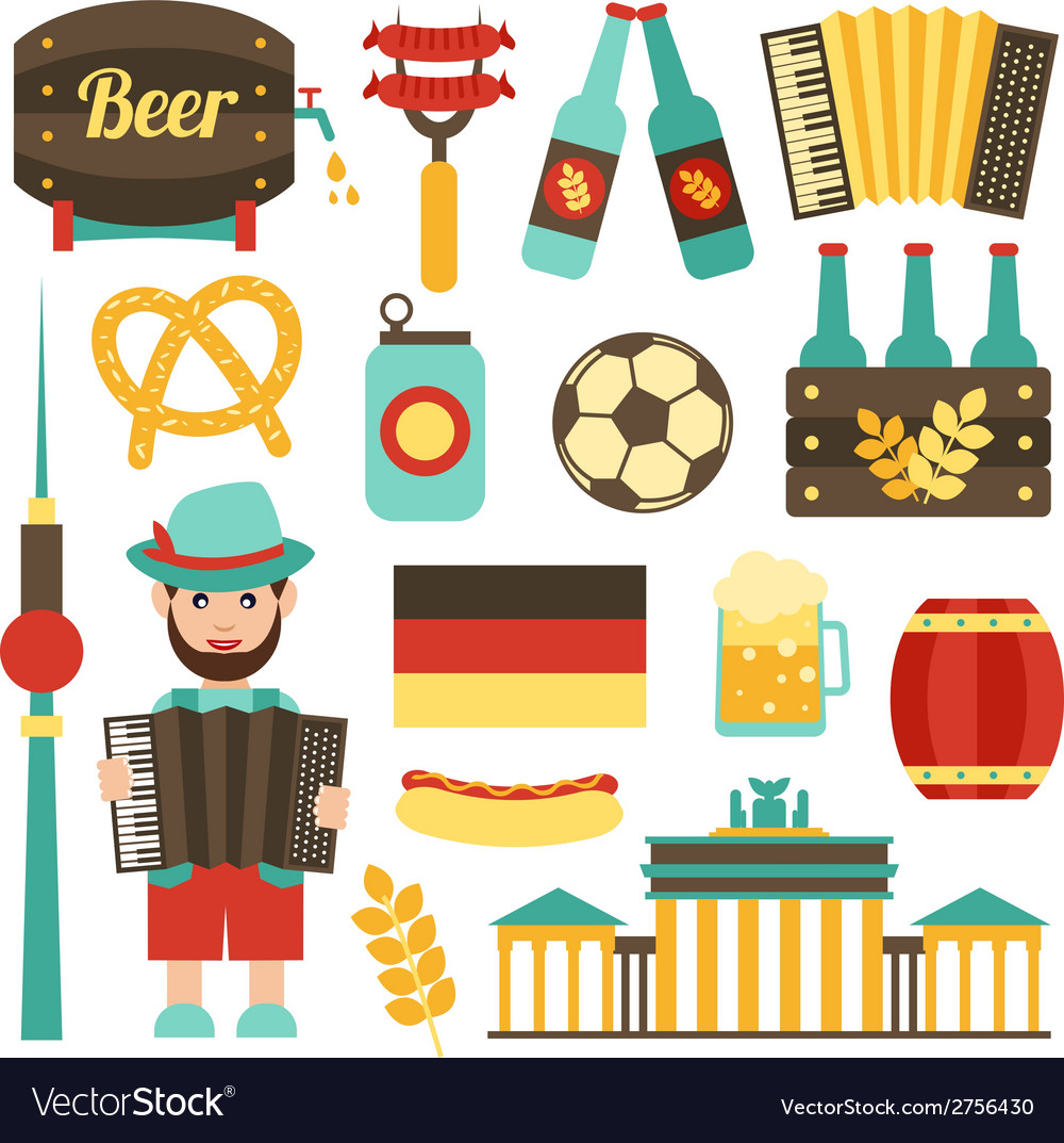Germany travel set vector | Price: 1 Credit (USD $1)