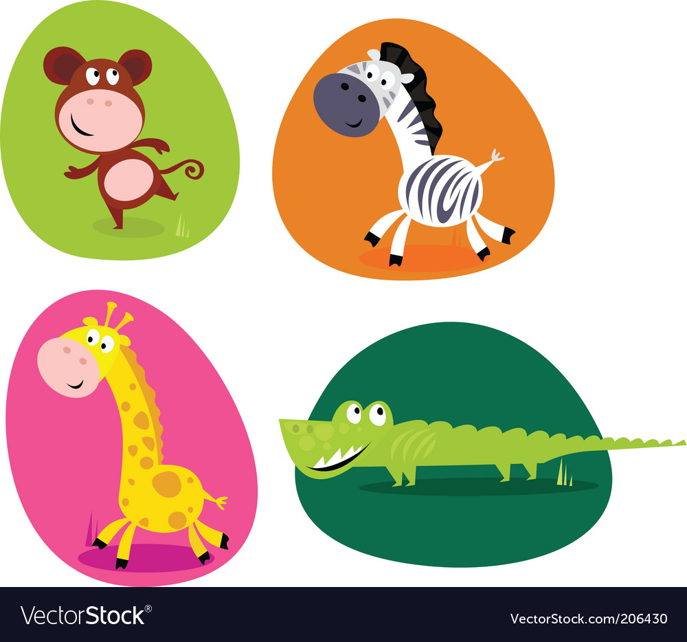 Jungle animals vector | Price: 1 Credit (USD $1)