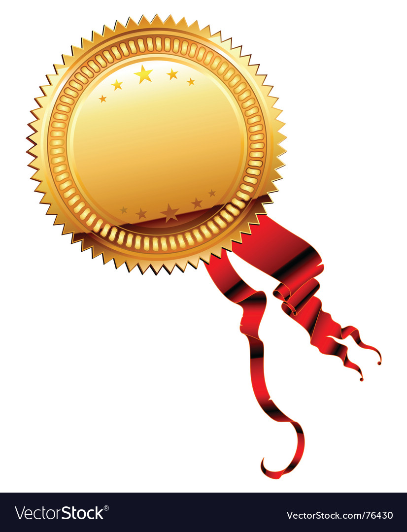 Medal gold vector | Price: 1 Credit (USD $1)