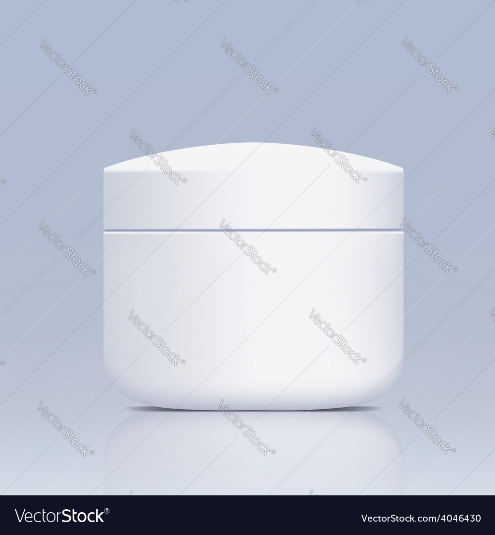 Plastic jar for cosmetics vector | Price: 1 Credit (USD $1)