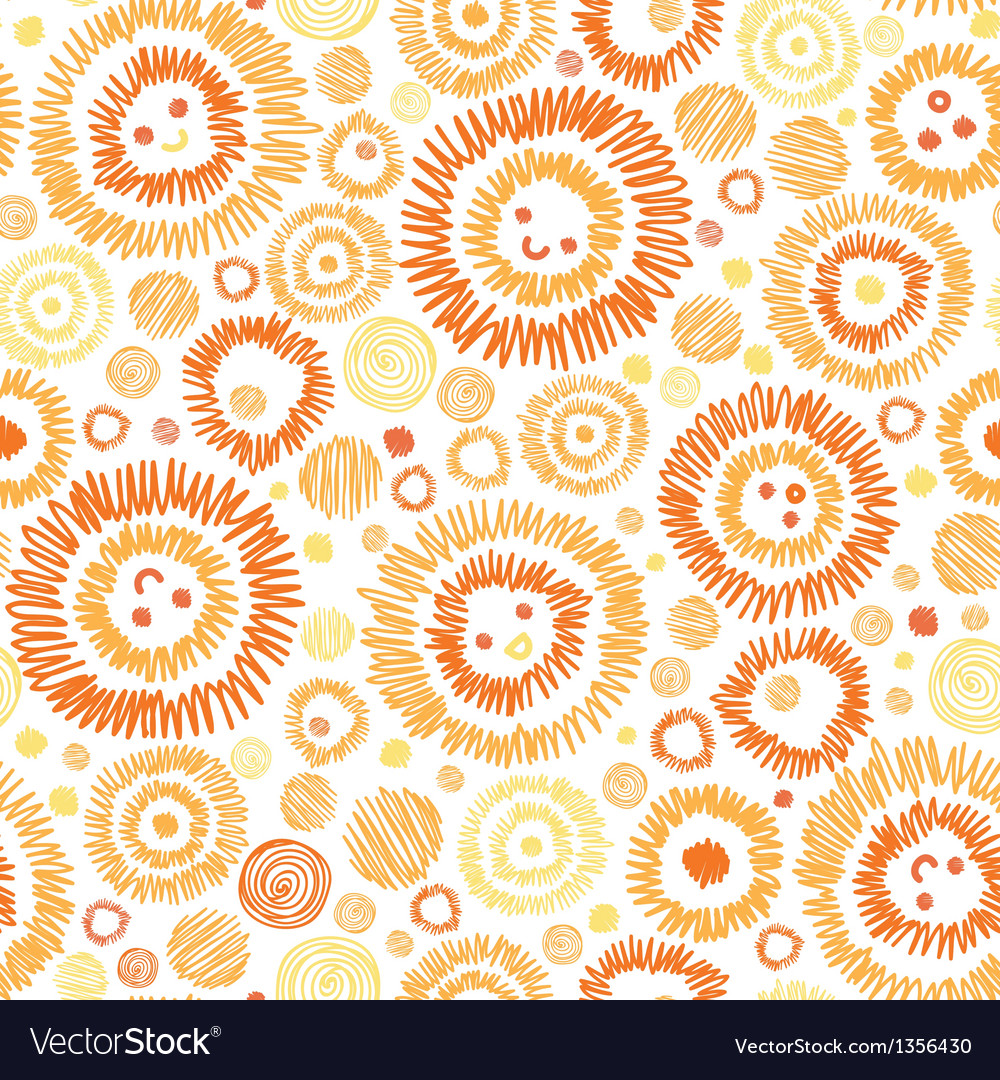 Sunny faces seamless pattern background vector | Price: 1 Credit (USD $1)