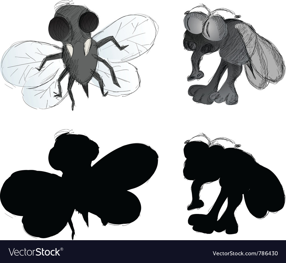 Ugly bugs freehand vector | Price: 1 Credit (USD $1)