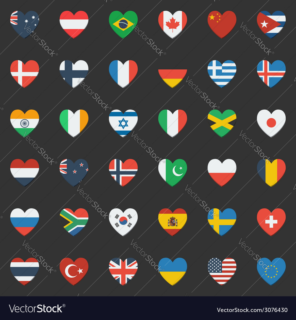 World flags vector | Price: 3 Credit (USD $3)