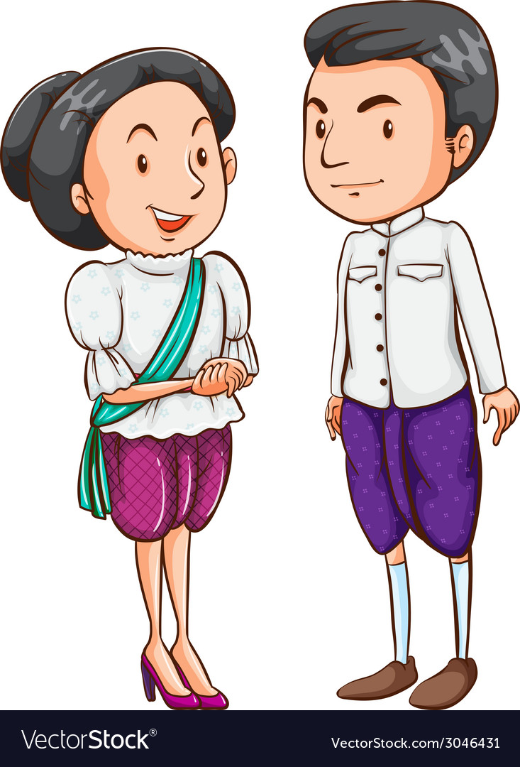 A couple from a foreign country vector | Price: 1 Credit (USD $1)