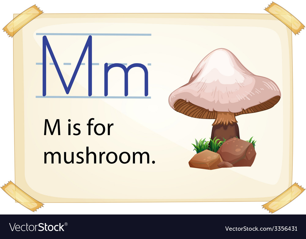 A letter m for mushroom vector | Price: 3 Credit (USD $3)