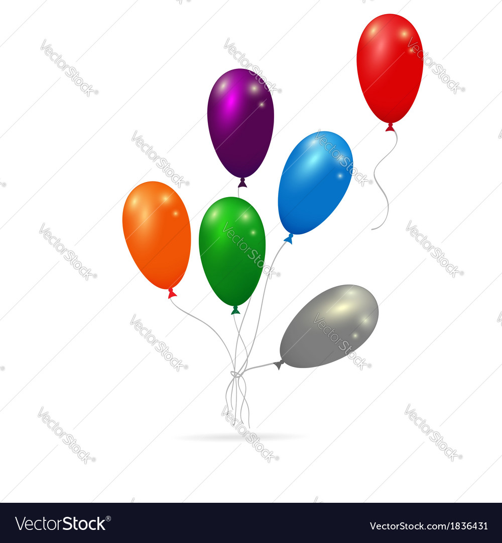 Balloons bunch vector | Price: 1 Credit (USD $1)