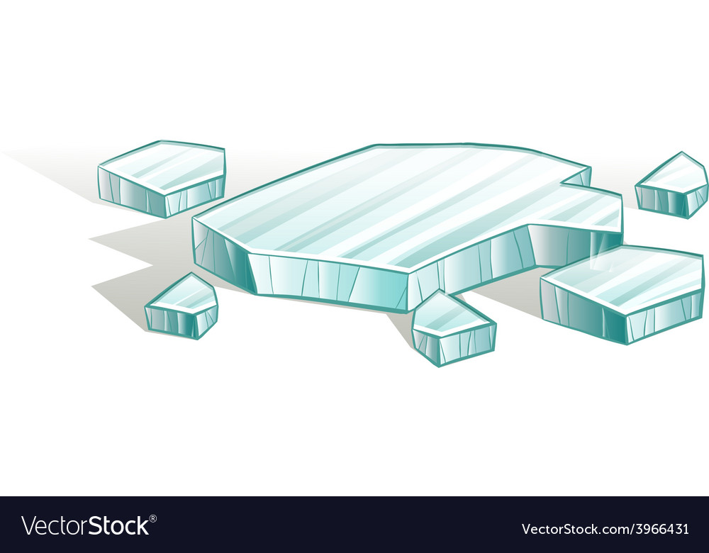 Broken icecubes vector | Price: 1 Credit (USD $1)