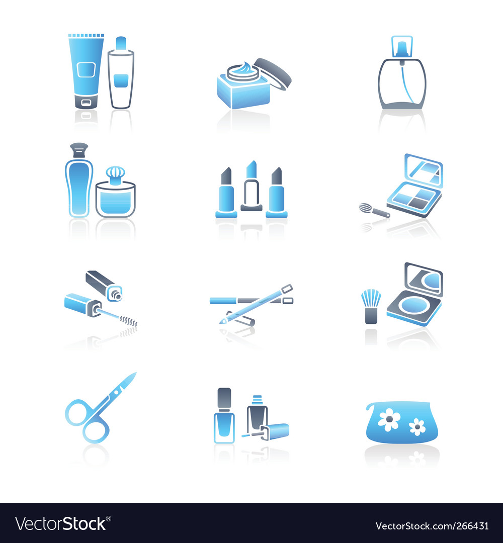 Cosmetics icons  marine series vector | Price: 1 Credit (USD $1)