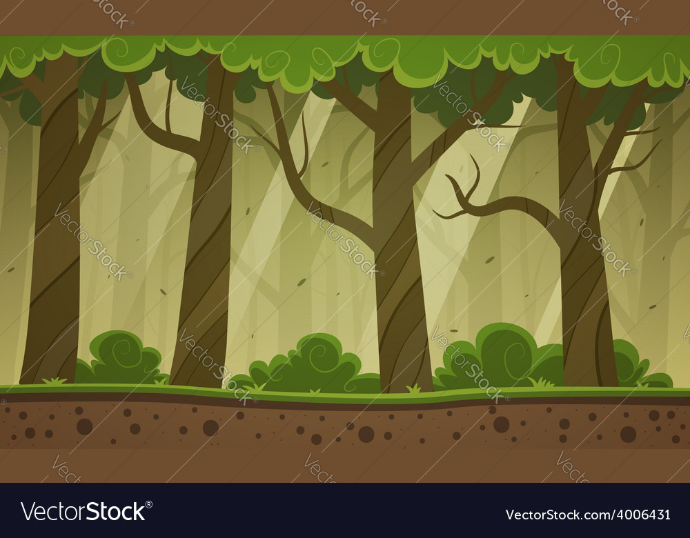 Forest cartoon background vector | Price: 5 Credit (USD $5)