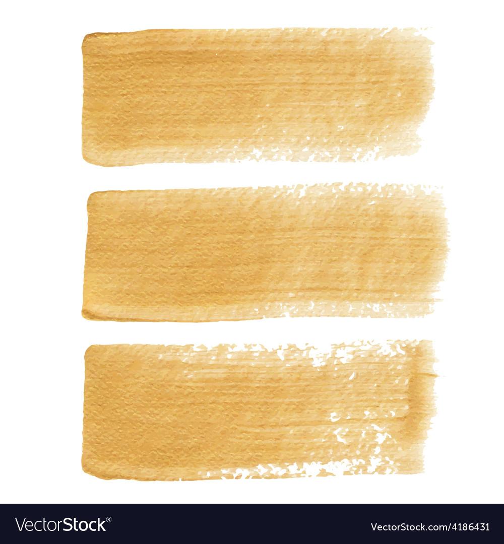 Gold acrylic brush strokes vector | Price: 1 Credit (USD $1)