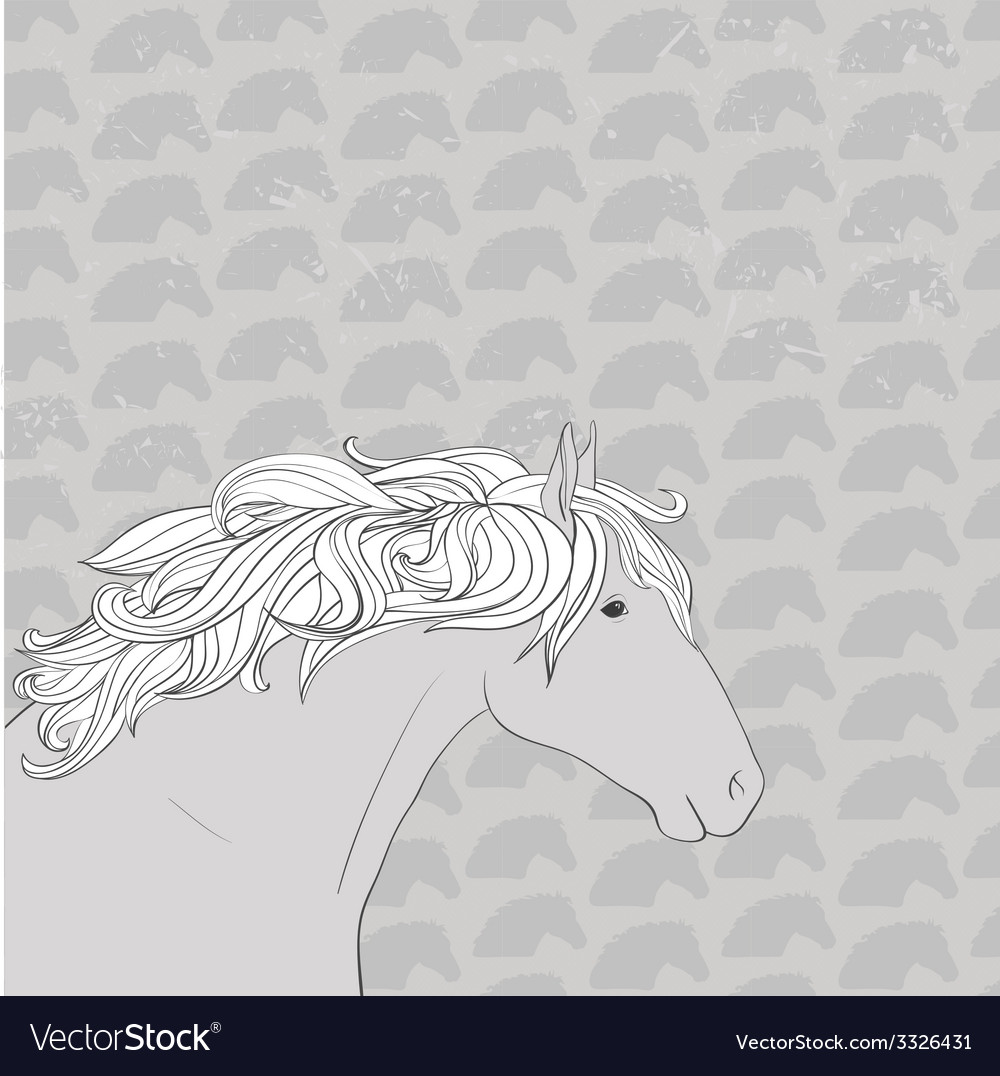 Horsehead10 vector | Price: 1 Credit (USD $1)