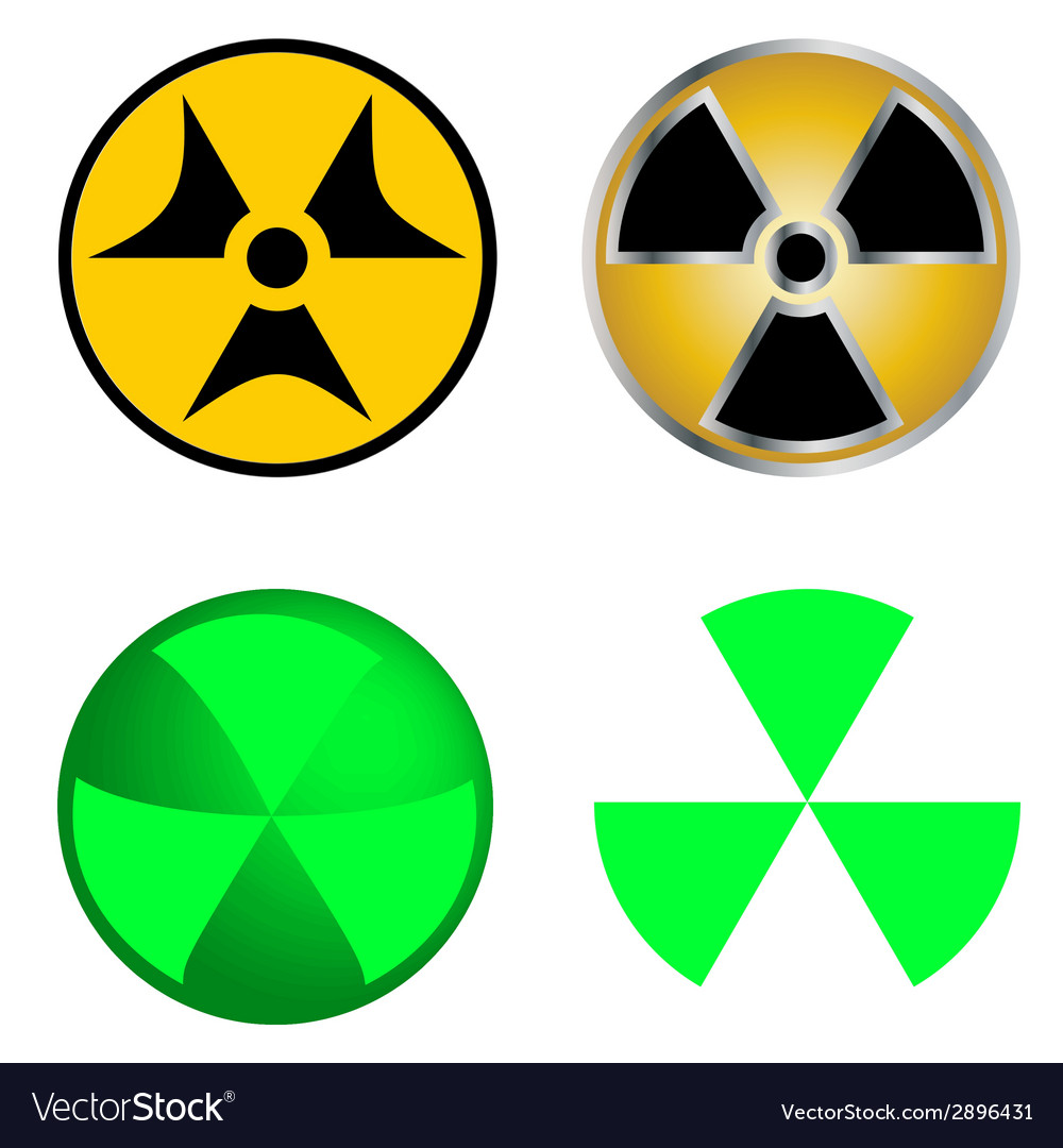 Isolated symbols of radiation vector | Price: 1 Credit (USD $1)