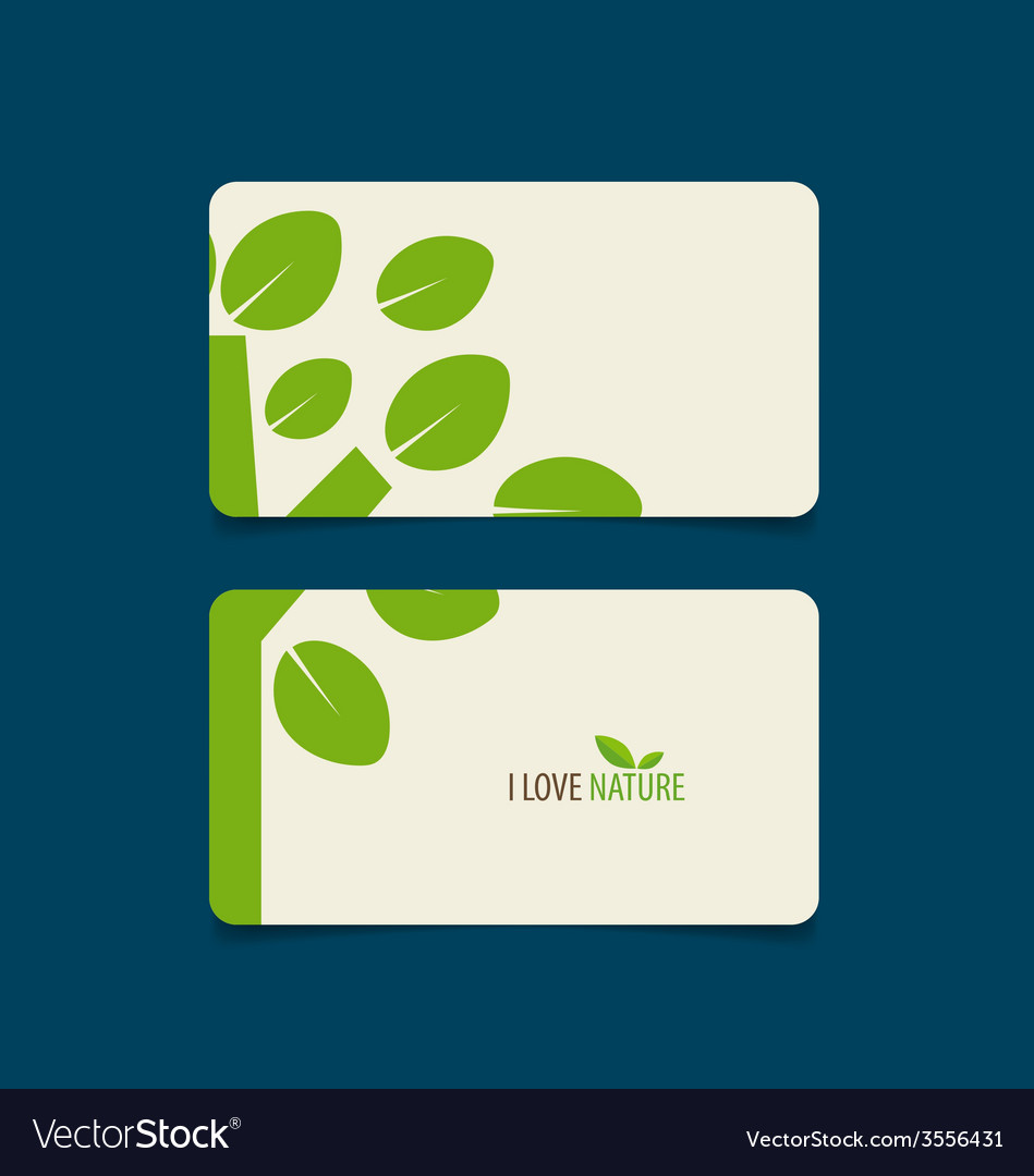 Nature banner eco organic labels and cards vector | Price: 1 Credit (USD $1)