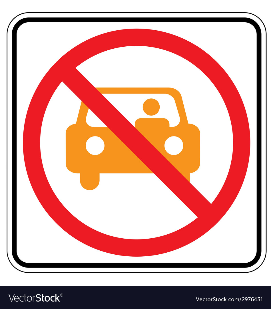 No yell car vector | Price: 1 Credit (USD $1)