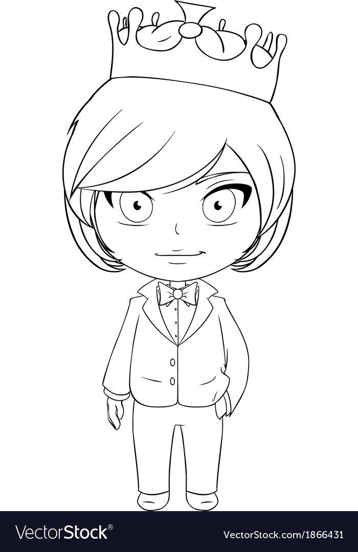 Prince coloring page 2 vector | Price: 1 Credit (USD $1)