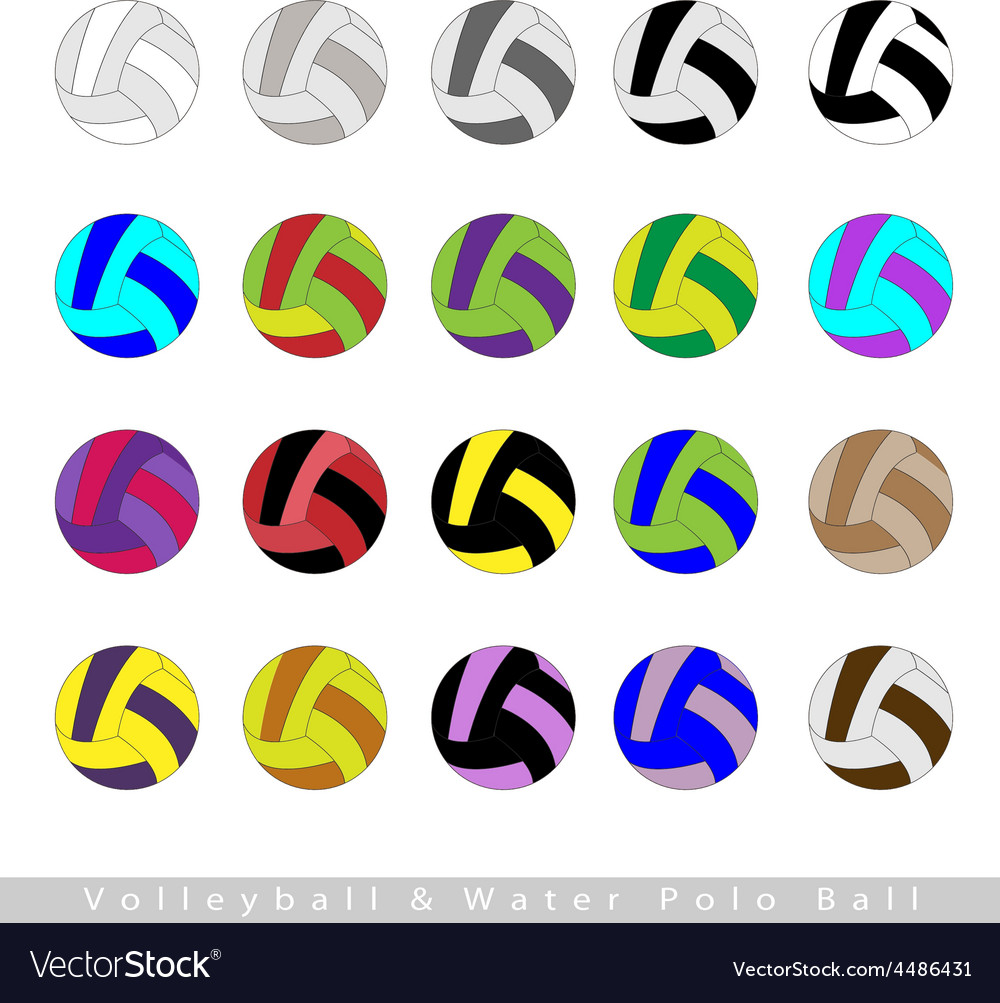 Set of volleyball balls or water polo vector | Price: 1 Credit (USD $1)