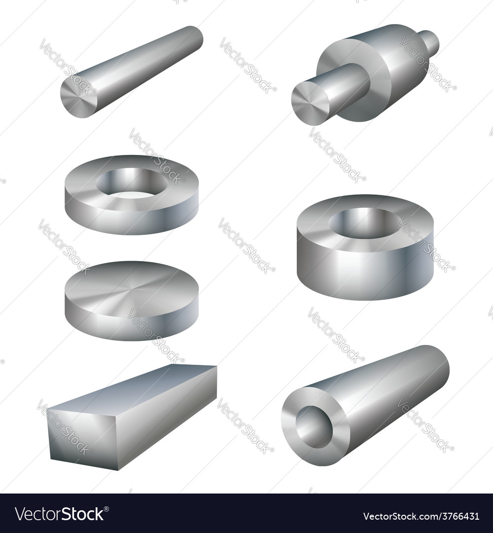 Steel products metal parts vector | Price: 1 Credit (USD $1)