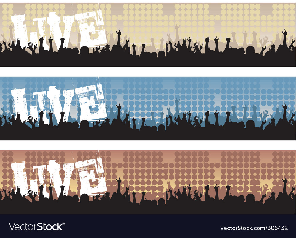 Concert banners vector | Price: 1 Credit (USD $1)