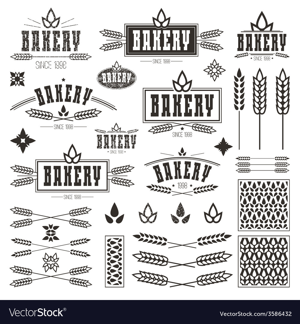 Design elements and logo for bakery vector | Price: 1 Credit (USD $1)