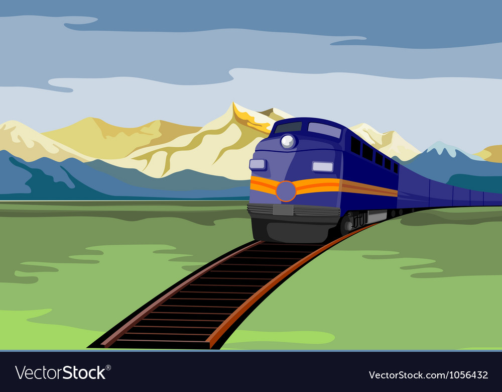 Diesel train retro vector | Price: 1 Credit (USD $1)
