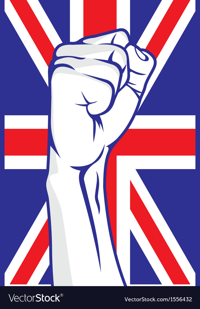 Great britain fist vector | Price: 1 Credit (USD $1)