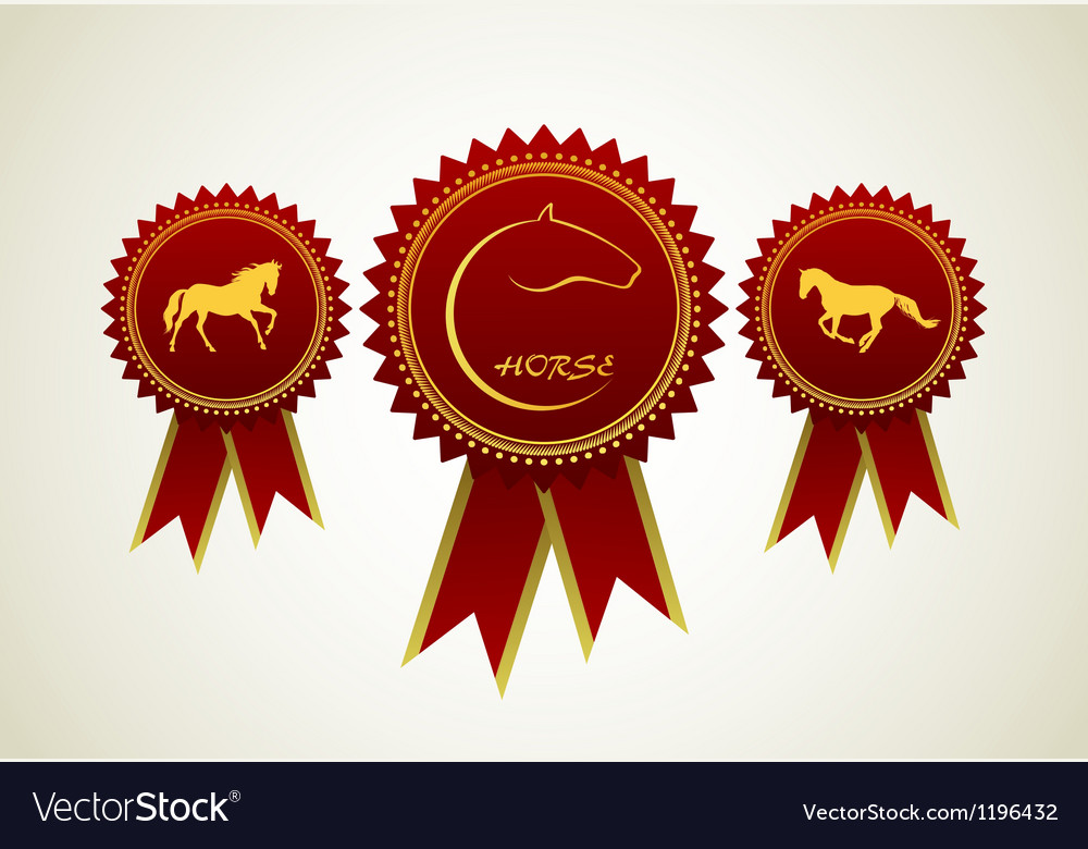 Horse symbol award rosette vector | Price: 1 Credit (USD $1)