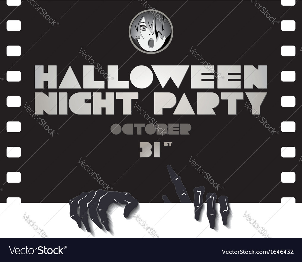 Just halloween party poster vector   Price: 1 Credit (USD $1)