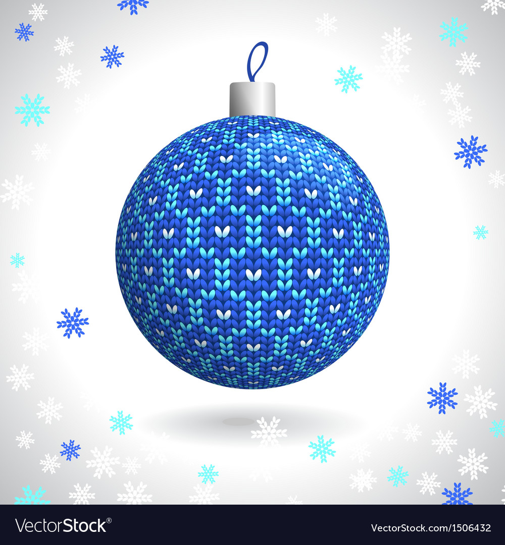 Knitted christmas ball vector   Price: 1 Credit (USD $1)