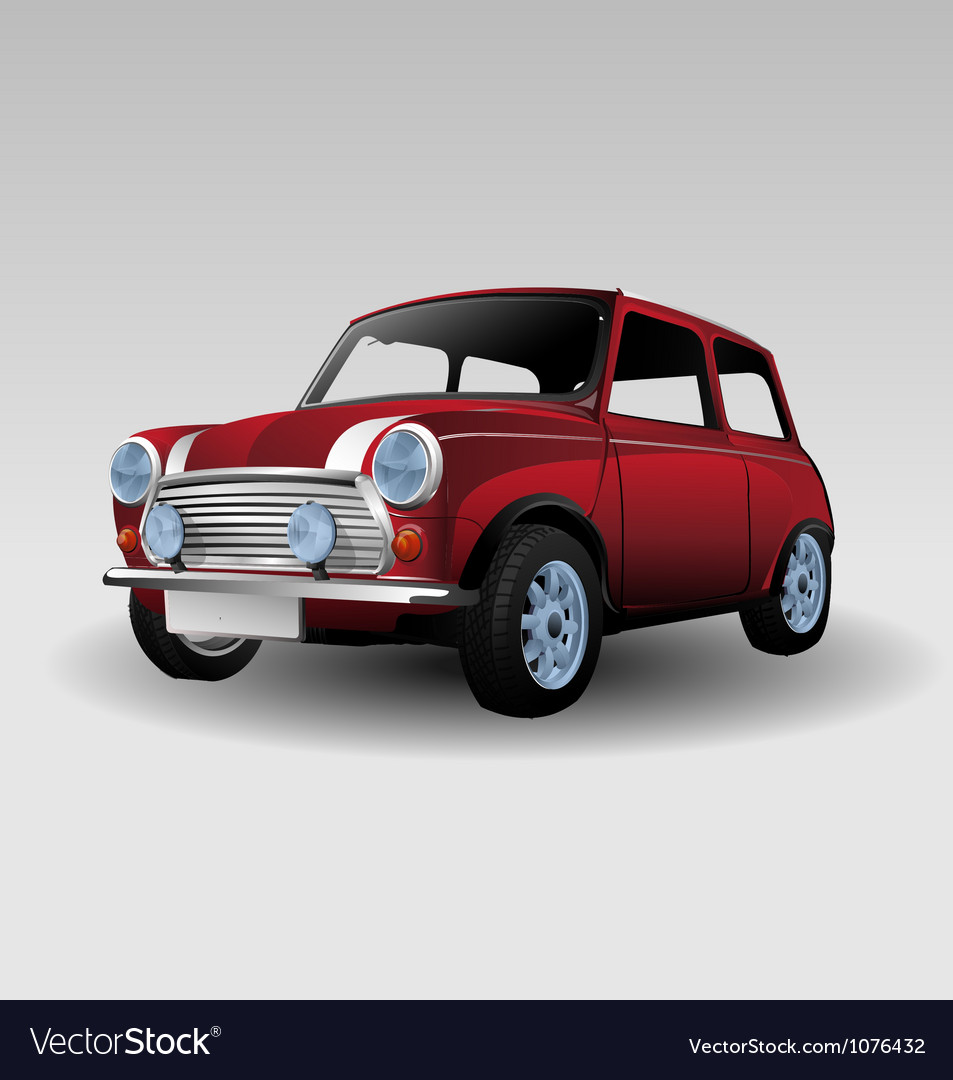 Mini red car vector | Price: 3 Credit (USD $3)