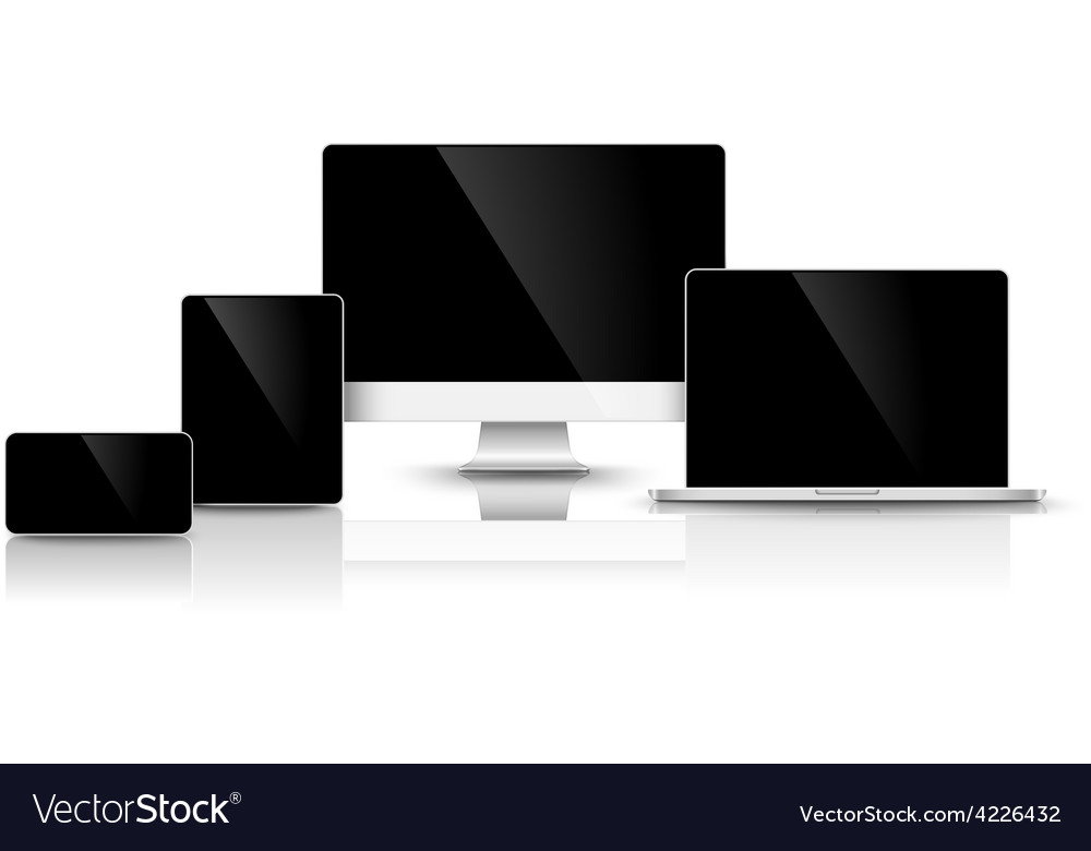 Modern black devices vector | Price: 1 Credit (USD $1)