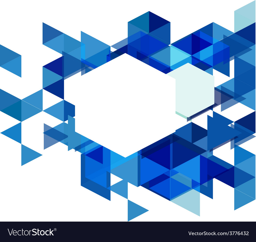 Modern blue geometrical abstract template vector | Price: 1 Credit (USD $1)