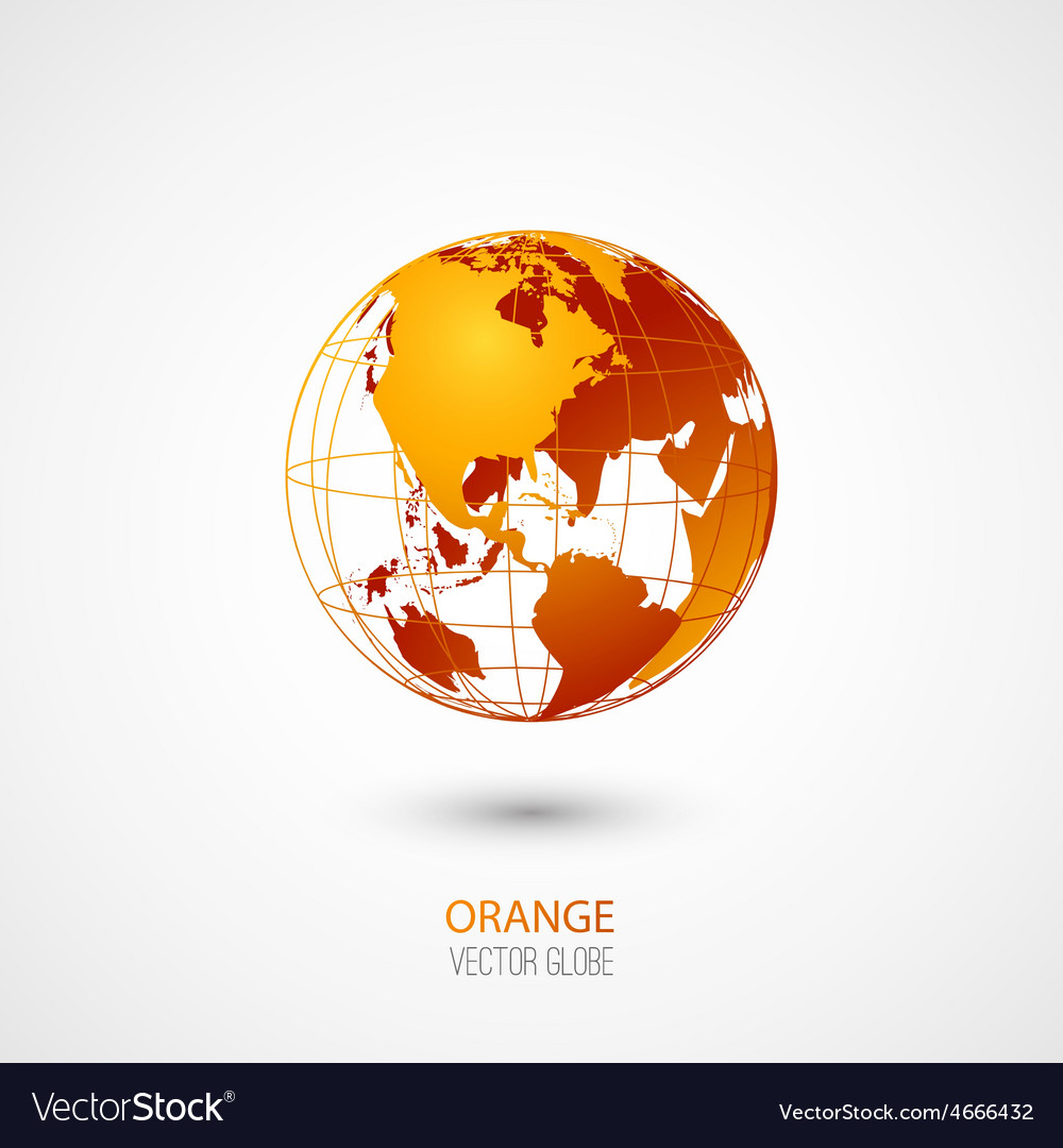 Orange globe vector | Price: 1 Credit (USD $1)