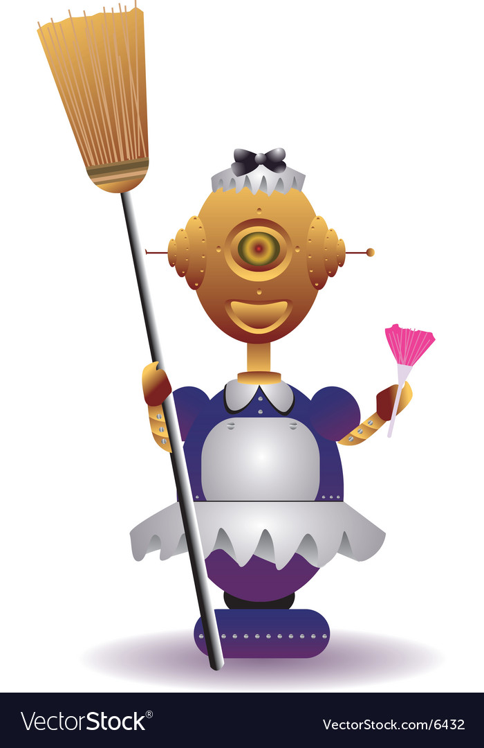 Robot maid vector | Price: 3 Credit (USD $3)