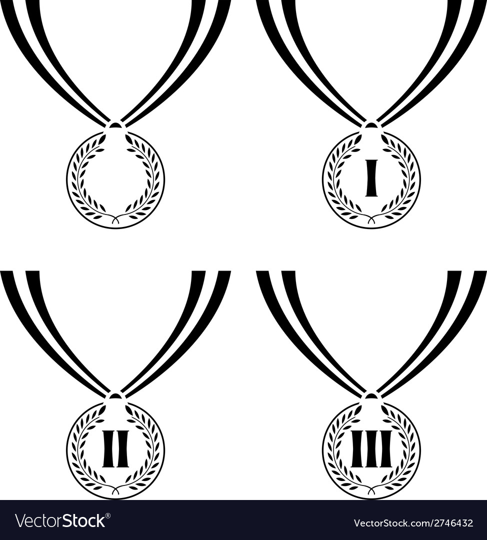 Set of stencils of medals vector | Price: 1 Credit (USD $1)