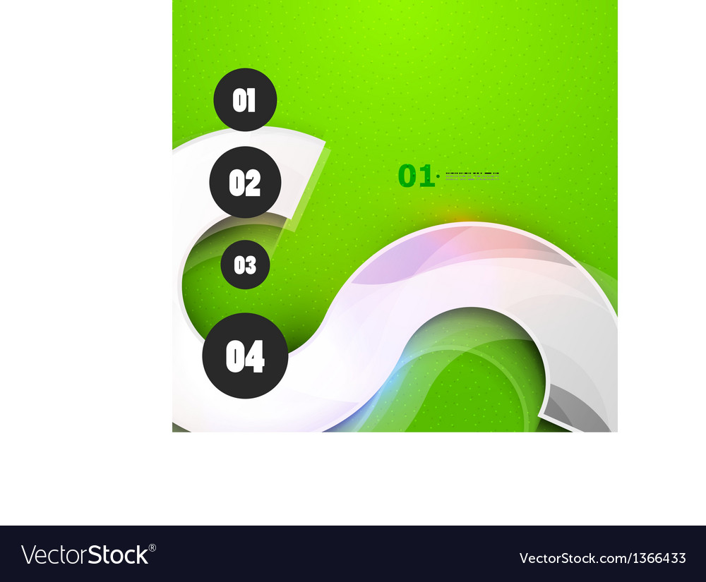 Abstract steps circles template vector | Price: 1 Credit (USD $1)