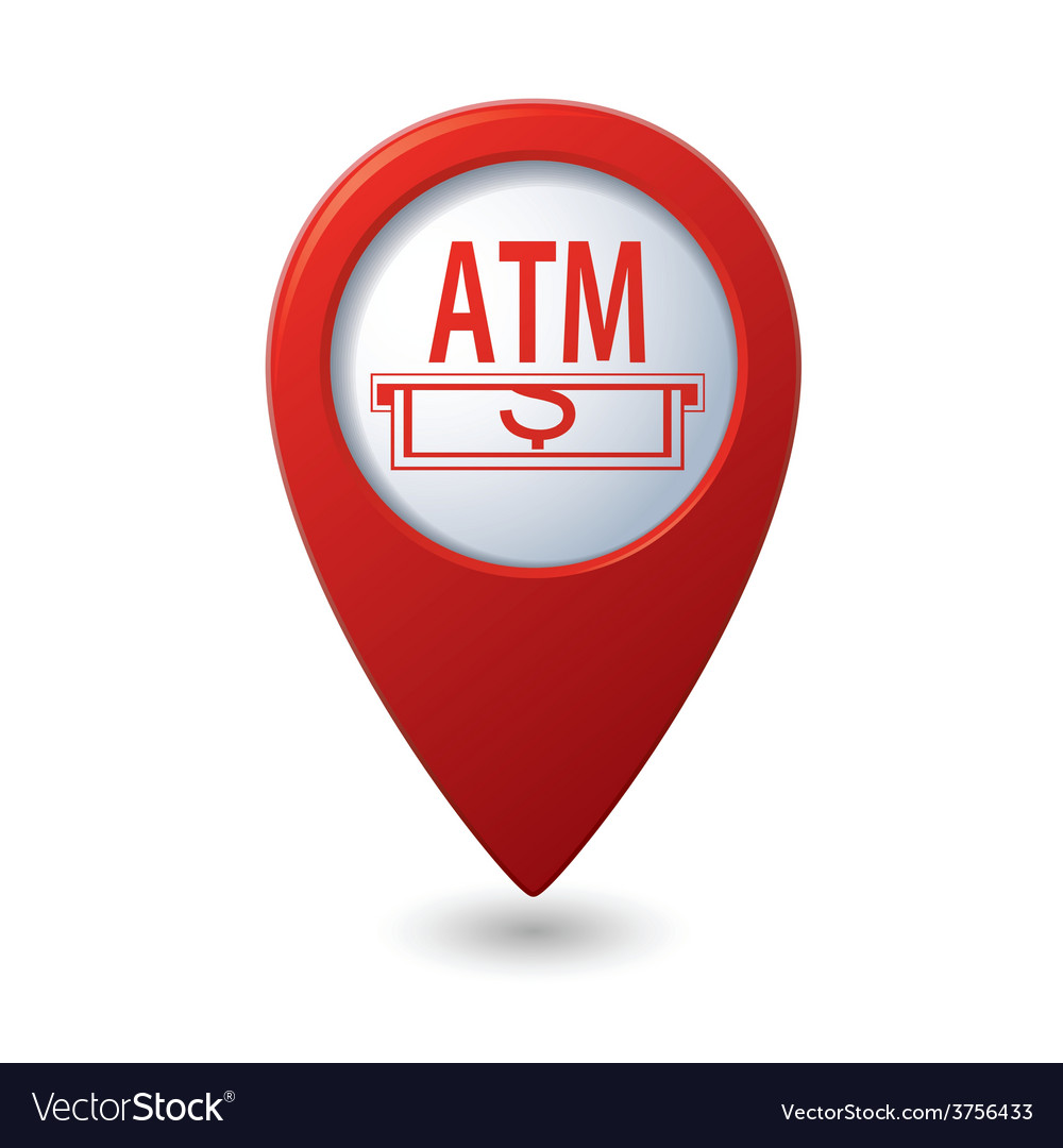 Atm red pointer vector | Price: 1 Credit (USD $1)