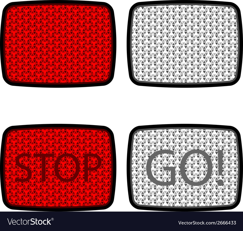 Bicycle reflectors red white vector | Price: 1 Credit (USD $1)