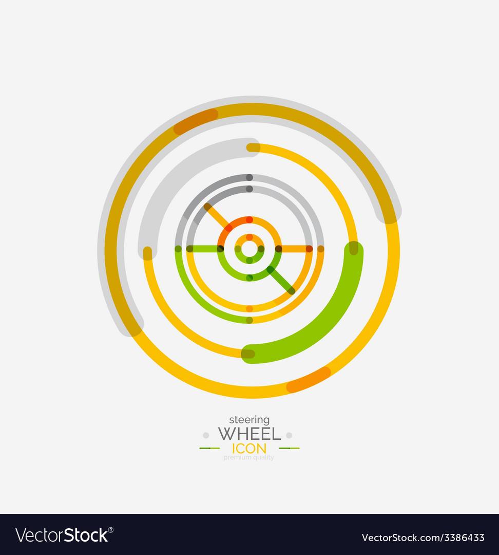 Car steering wheel icon vector   Price: 1 Credit (USD $1)