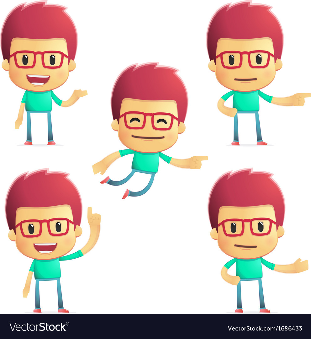 Casual man in various poses vector | Price: 1 Credit (USD $1)