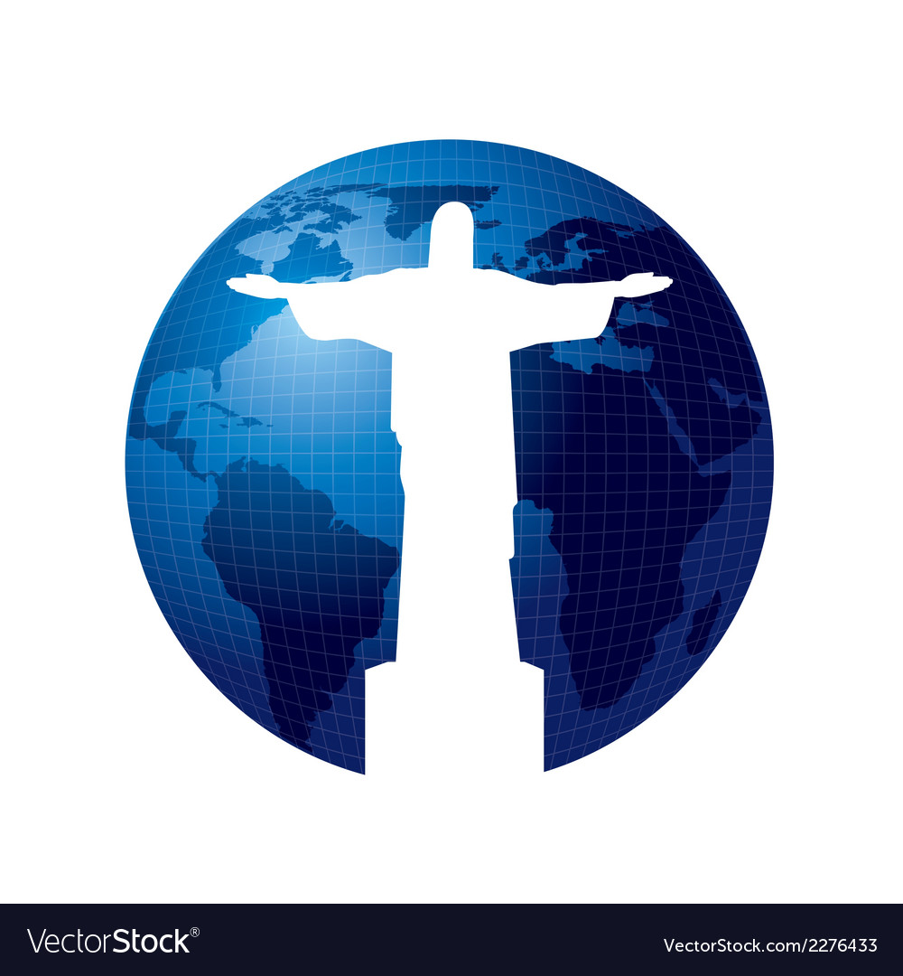 Christ the redeemer statue vector | Price: 1 Credit (USD $1)