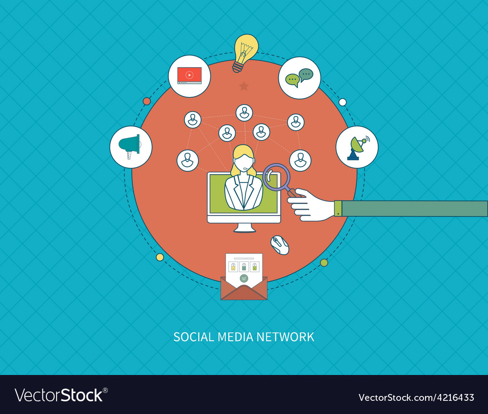 Communication distance education and social media vector | Price: 1 Credit (USD $1)