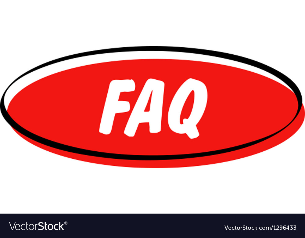 Faq button vector | Price: 1 Credit (USD $1)