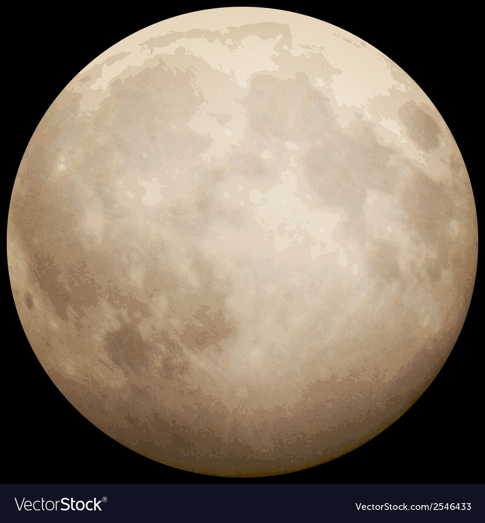 Full moon taken on 13 july 2014 eps 10 vector | Price: 1 Credit (USD $1)