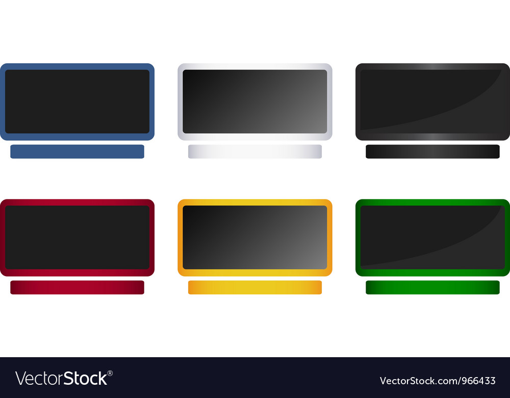 Monitor icons set vector | Price: 1 Credit (USD $1)